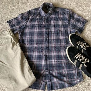 Volcom Plaid Modern Fit Trucker Shirt Large VGC